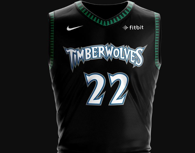 The Iconic Timberwolves Throwback Black Green Jerseys From The 1990 S