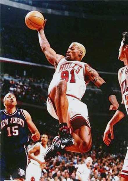 on sale e6f11 5c2b7 Dennis Rodman: NBA Stats, Height, Birthday, Weight and Biography