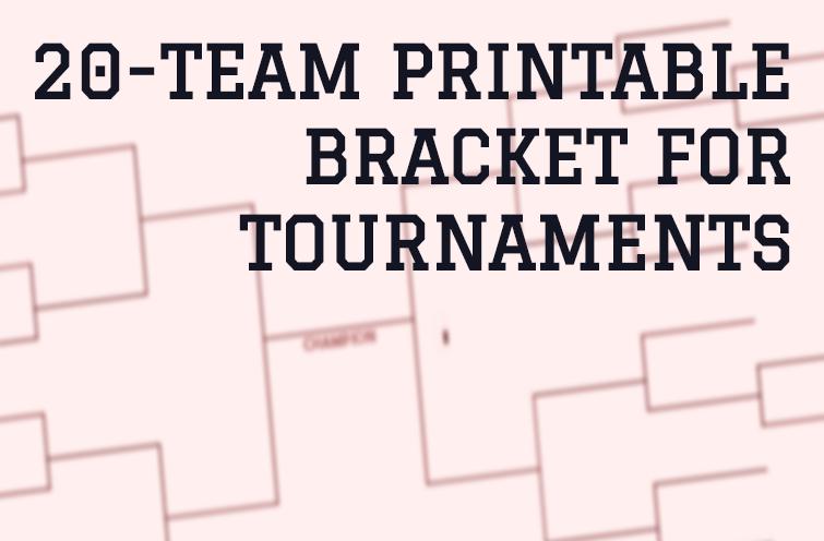 20-Team Bracket (Single Elimination) for Football