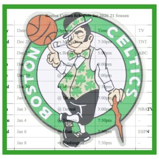 Printable Boston Celtics schedule and national TV schedule for 2020-21 season