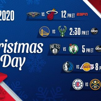 Here's the 2020 NBA TV schedule for Christmas Day for ABC, ESPN & TNT