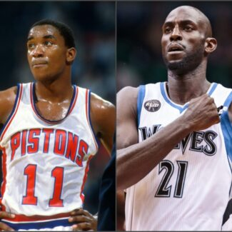 Why was Isiah Thomas chosen to induct Kevin Garnett into the Hall of Fame?
