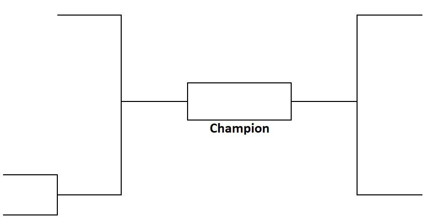 5 Team Tournament Bracket Single Elimination Printable Sports Bracket