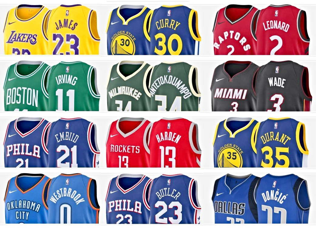 LeBron, Curry, and Giannis top this season's best-selling NBA ...