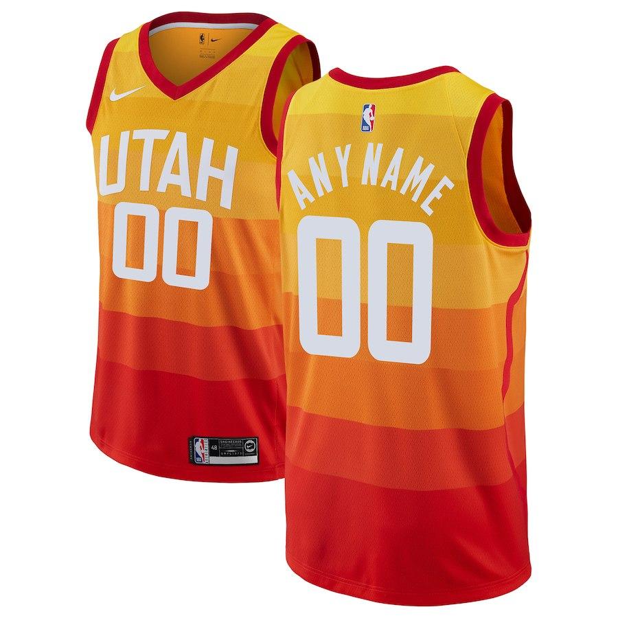 ... discount above is the nike orange 2018 19 swingman utah jazz custom jersey  city edition. 688d98007