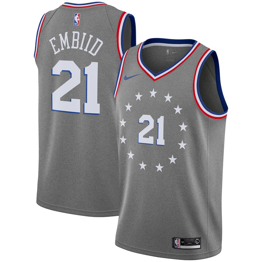 """The Philadelphia s Sixers  new heather grey jerseys give a sweatpants  material feel. That feeling is supposed to invoke """"Philadelphia s rich  history of the ... e73a5658d"""