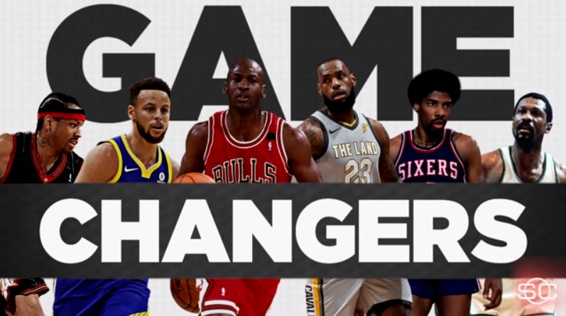 """The full list of ESPN's 100 greatest NBA """"Game Changers"""" of all-time #NBArank"""