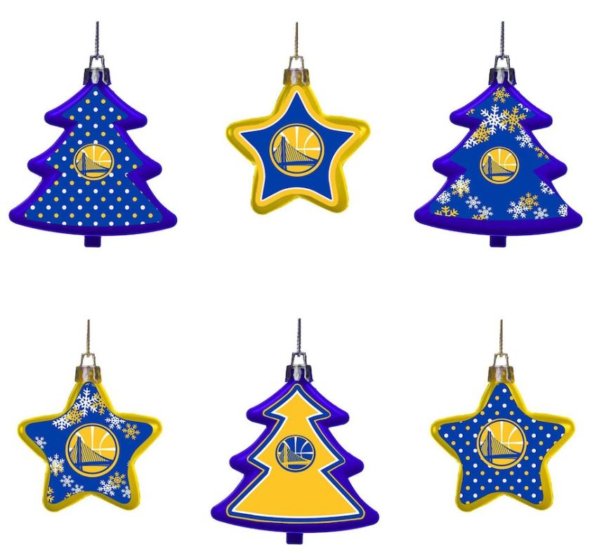 GSW six holiday ornament set -- holiday gifts under $20