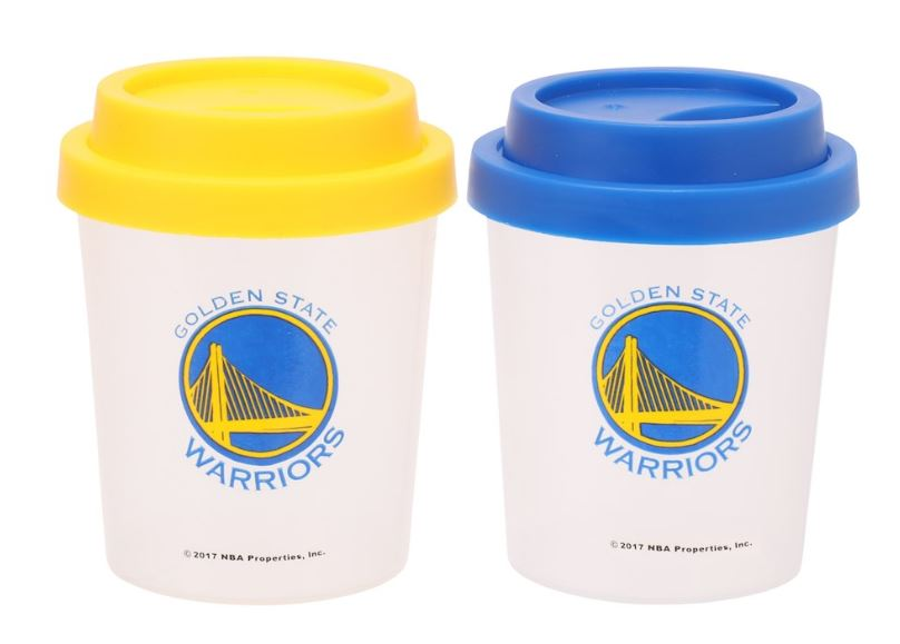 GSW salt pepper shakers plastic -- nba gifts under $20