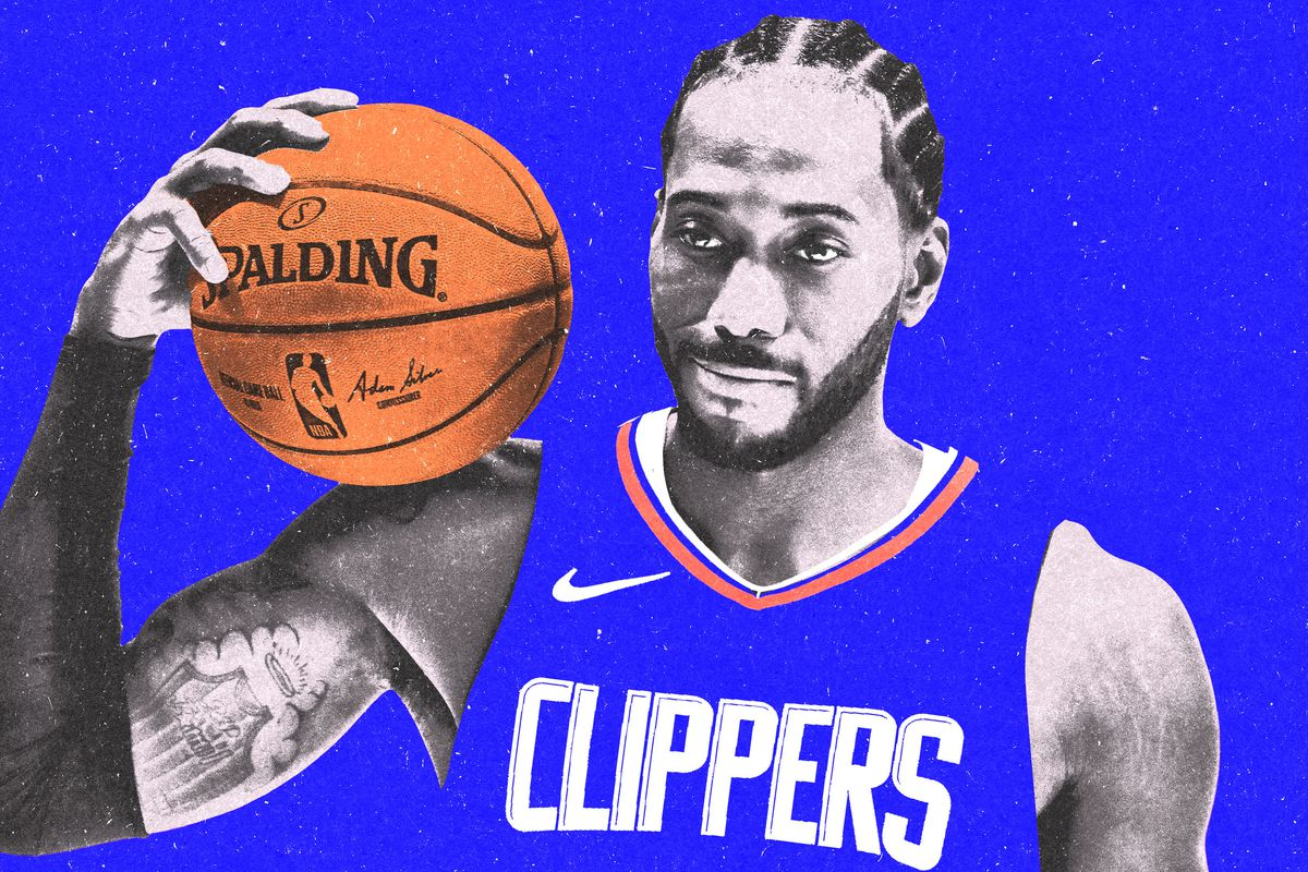 Kawhi in Clippers Jersey (image from The Ringer)
