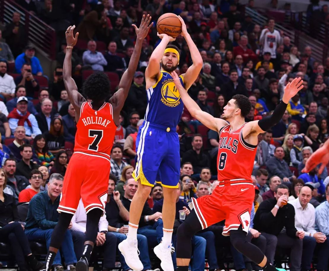 Here's 10 records from Klay Thompson and Golden State's win over the Chicago Bulls last night