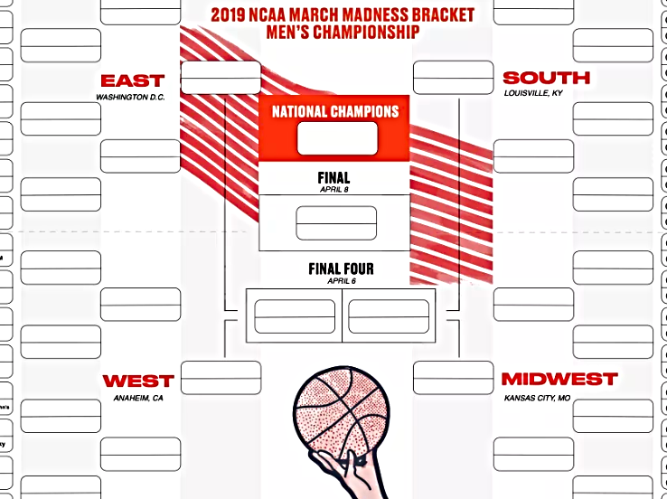 The Best Printable Tournament Brackets for March Madness ...