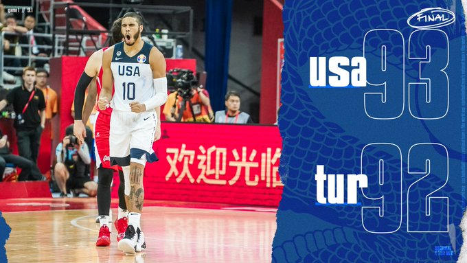 Team USA survives Turkey 93-92 in FIBA World Cup behind Khris Middleton and Turkey's missed free throws