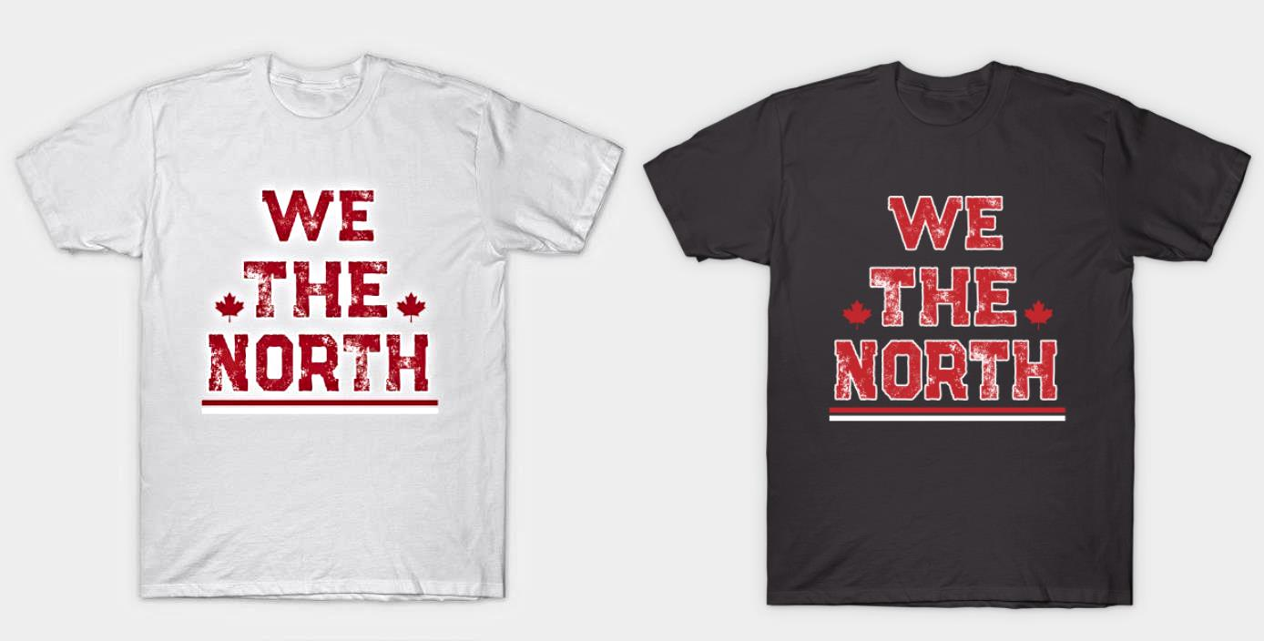 a94c75904be Shown are the black (asphalt) and white version of this We the North shirt,  but you're not limited to those colors. This customizable Raptors tee is ...