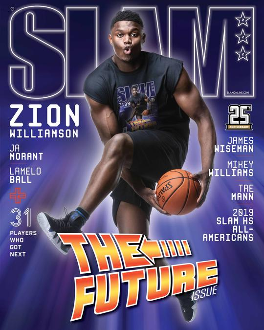 Zion Williamson featured on the newest SLAM Magazine cover  (SLAM issue #222)