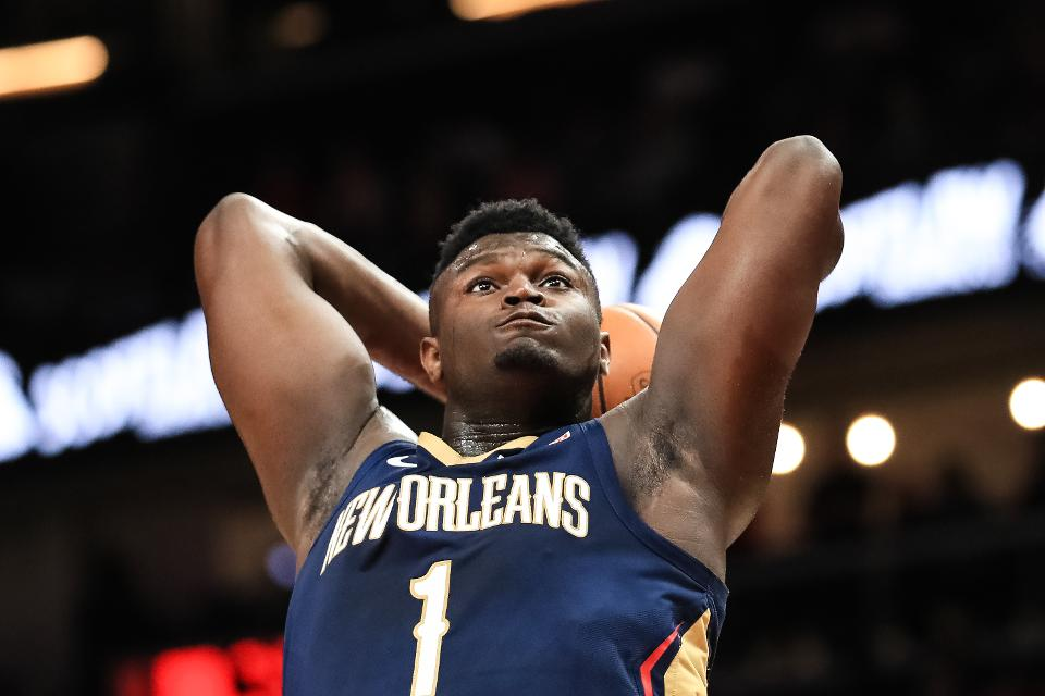 Here's every one of Zion Williamson's slam dunks and NBA highlights for the 2019-20 season