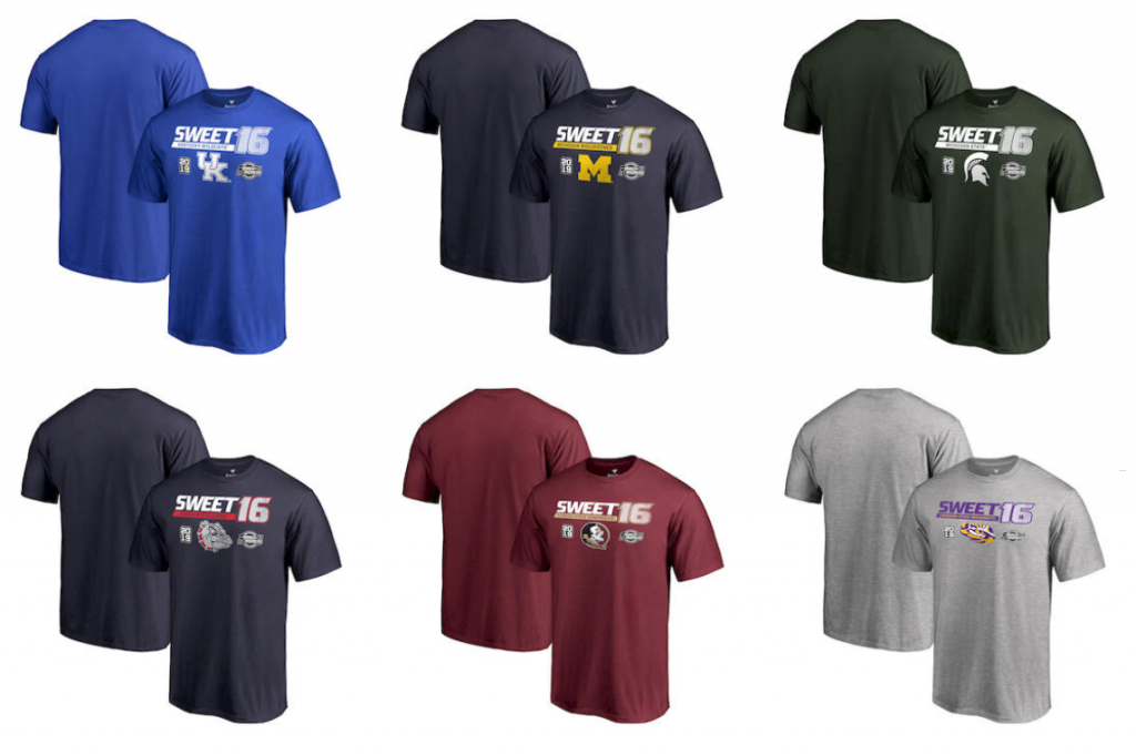 new style 0f7ad a7c0d These sweet sweet shirts are made of 100% cotton and officially licensed by  the NCAA and branded by Fanatics.