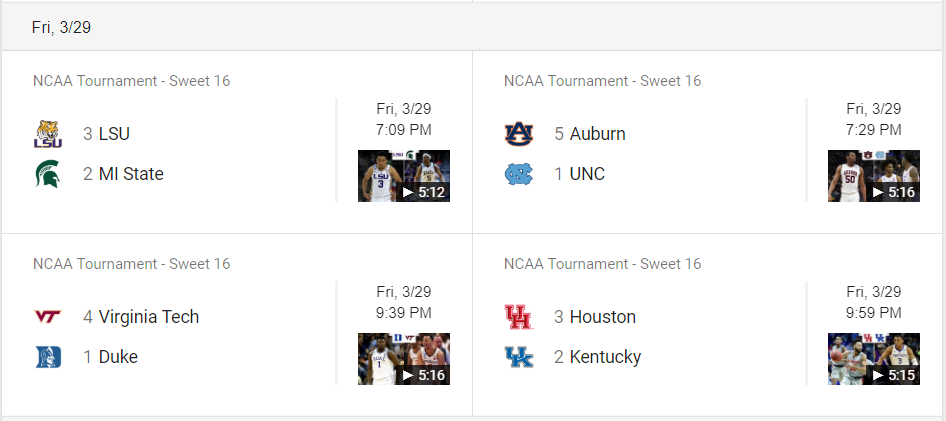Where to Watch the Sweet Sixteen on TV for March Madness