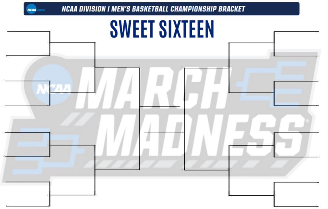 image regarding Si Printable Bracket called Adorable 16 Bracket in direction of Print (PDF) for the NCAA match
